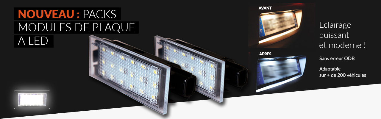 NOUVEAU : Modules de plaque d'immatriculation à LED