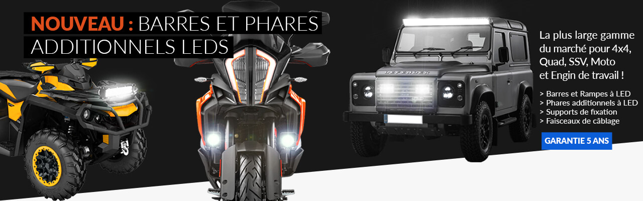 NOUVEAU : Barres LED et phares additionnels LED