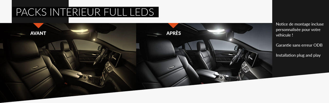 PACKS INTERIEUR FULL LEDS