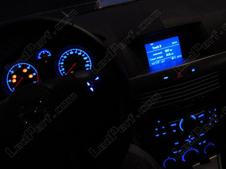 Kit led compteur tableau de bord opel astra h bleu rouge for Opel astra h interieur