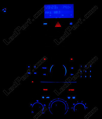 Led Console bleu Opel Astra H sport