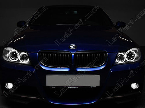 pack leds angel eyes anneaux pour bmw serie 3 e90 phase 1. Black Bedroom Furniture Sets. Home Design Ideas