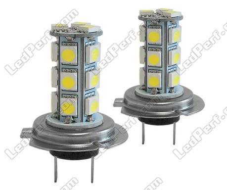 pack de 2 ampoules h7 a leds 6000k blanc xenon. Black Bedroom Furniture Sets. Home Design Ideas