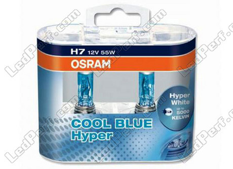 pack de 2 ampoules h7 osram cool blue hyper 5000k. Black Bedroom Furniture Sets. Home Design Ideas