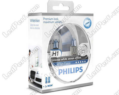 Pack de 2 Ampoules H1 Philips WhiteVision + 2 W5W WhiteVision