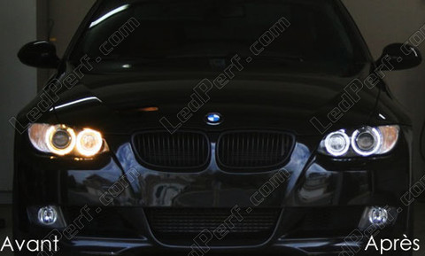 pack leds angel eyes anneaux pour bmw serie 3 e92 e93. Black Bedroom Furniture Sets. Home Design Ideas