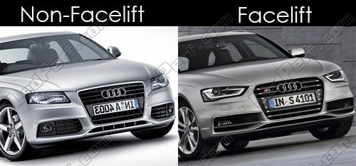 Difference a4 b8 facelift