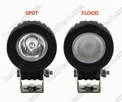 Phare Additionnel LED CREE Rond 10W Pour Moto - Scooter - Quad Spot VS Flood