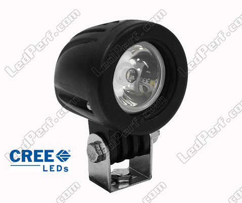 phare additionnel led cree rond 10w pour moto scooter quad. Black Bedroom Furniture Sets. Home Design Ideas