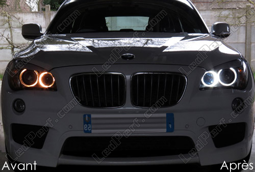 pack leds angel eyes anneaux pour bmw x1 e84 mtec v3 0. Black Bedroom Furniture Sets. Home Design Ideas