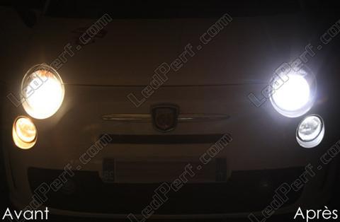 pack ampoules de feux phares xenon effect pour fiat 500 abarth 500. Black Bedroom Furniture Sets. Home Design Ideas