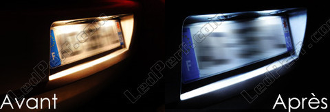 Led Plaque Immatriculation Ford Transit Connect avant et apres
