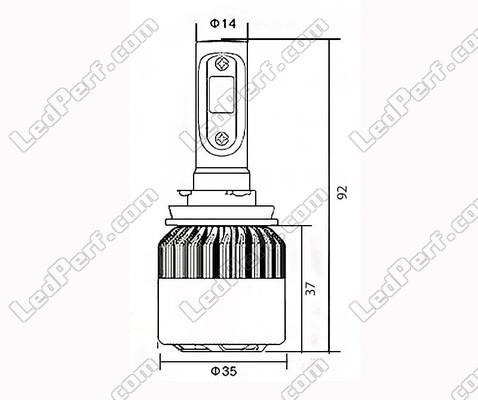 kit ampoules h15 led hp clairage blanc pur port offert. Black Bedroom Furniture Sets. Home Design Ideas