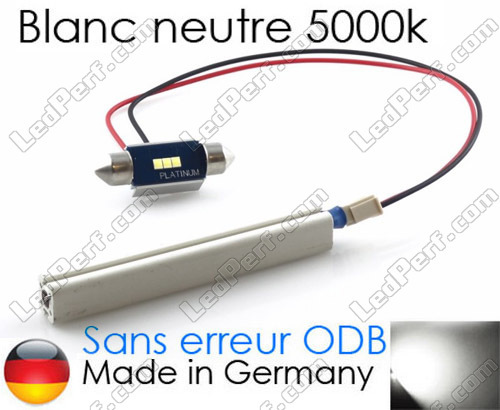 Anti-erreur ODB C5W Led navette 37mm Blanc