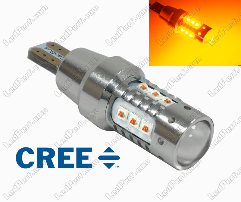Ampoule Puissante À Ultra Leds 16 Wy16w Orange T15 Cree RA4L5j