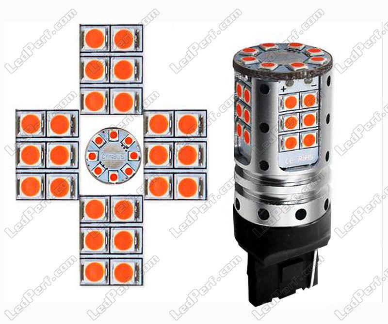 T20 Culot Xtrem Odb Puissante Ampoule Leds Orange Ultra À 32 Wy21w Y9DIH2WE