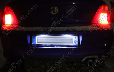Led Plaque Immatriculation MG ZR
