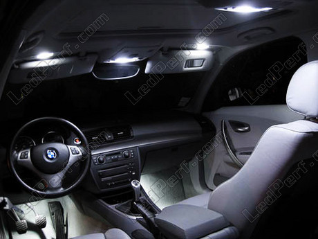 Pack full leds int rieur pour bmw serie 1 e81 e82 e87 e88 plus for Serie 1 interieur