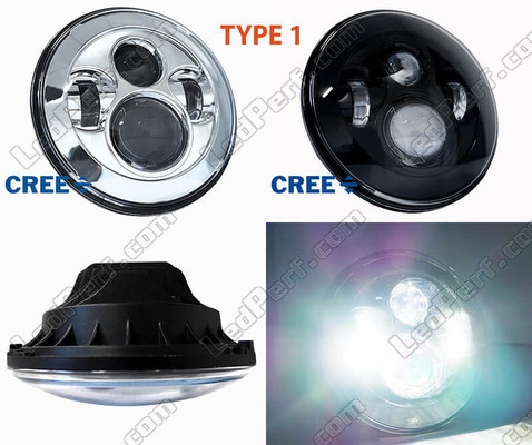 phare led rond pour honda hornet 600 2005 2006. Black Bedroom Furniture Sets. Home Design Ideas