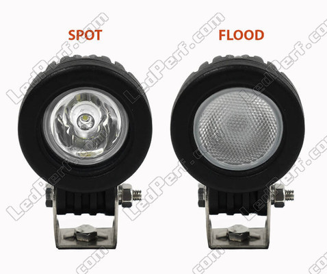 Faisceau Lumineux Spot VS Flood Yamaha YFM 125 Grizzly