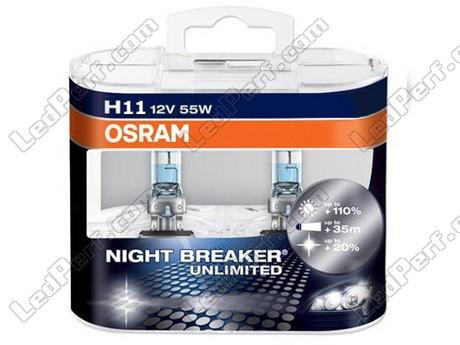 pack de 2 ampoules h11 osram night breaker unlimited 3900k. Black Bedroom Furniture Sets. Home Design Ideas