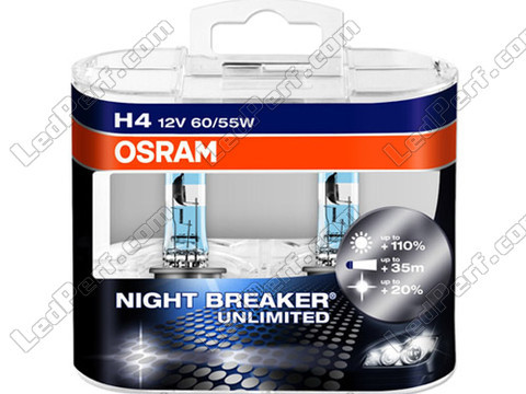 Ampoules Osram H4 Night Breaker Unlimited Xenon Effect 3900K