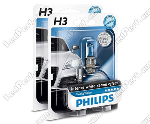 Pack de 2 Ampoules H3 Philips WhiteVision