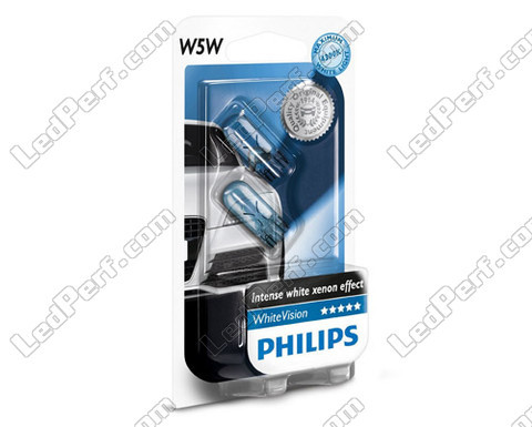 Ampoule T10 W5W Philips WhiteVision Xenon effect LED