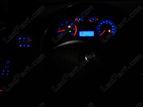Kit led compteur/tableau de bord Fiat Stilo bleu/rouge/blanc/vert