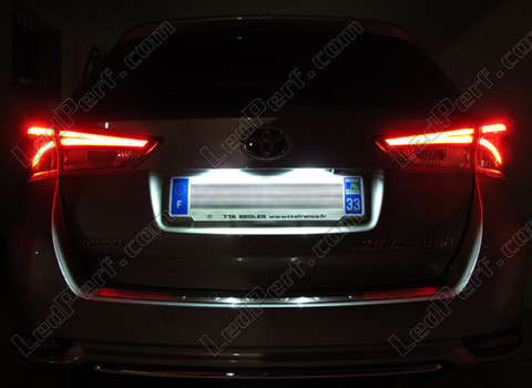 pack leds plaque d 39 immatriculation pour toyota auris mk2. Black Bedroom Furniture Sets. Home Design Ideas