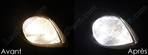 TOYOTA YARIS MK2 55 W Super Blanc XENON HID haute//basse//SLUX DEL Côté Ampoules