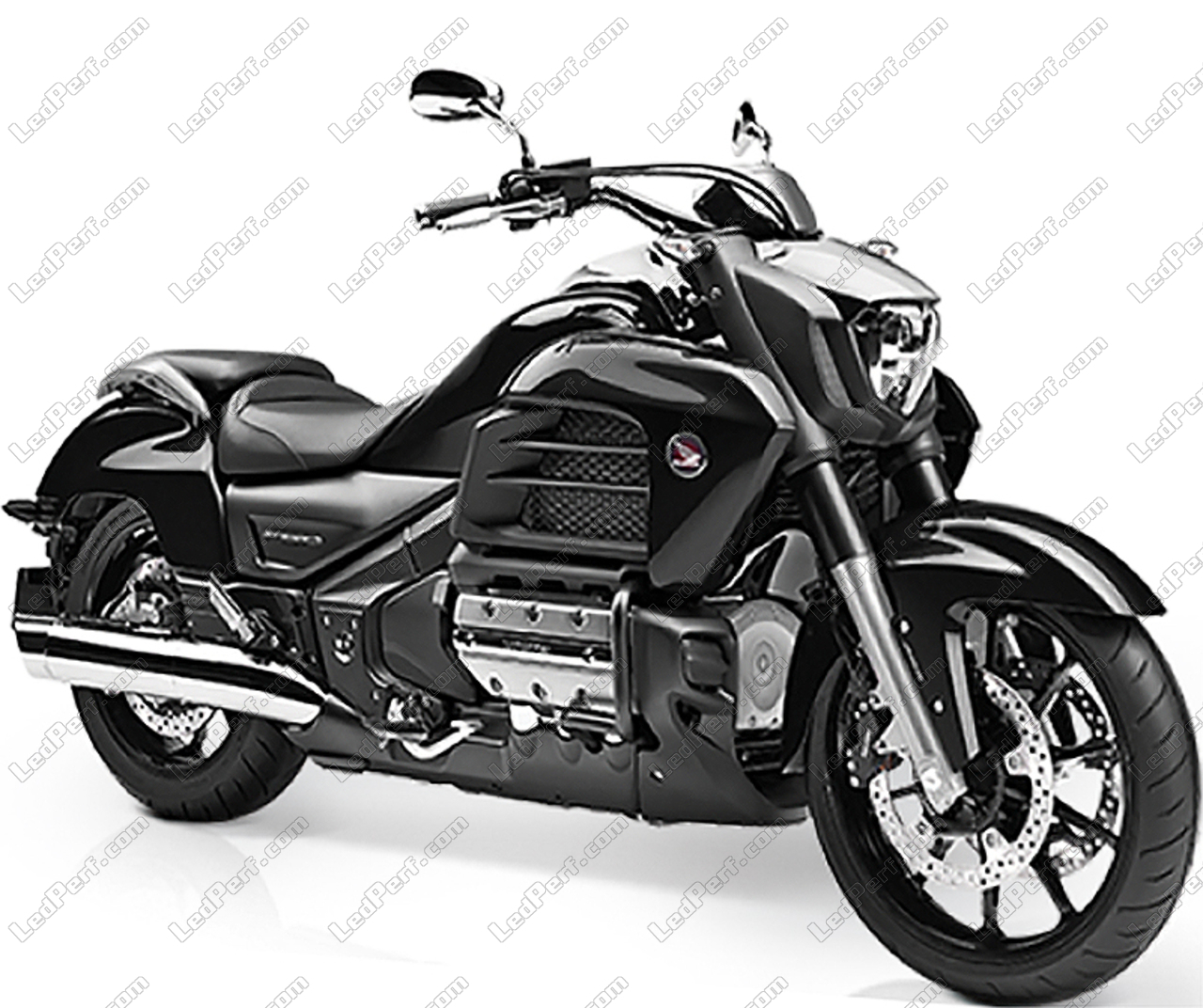phares additionnels led pour moto honda goldwing 1800 f6c. Black Bedroom Furniture Sets. Home Design Ideas