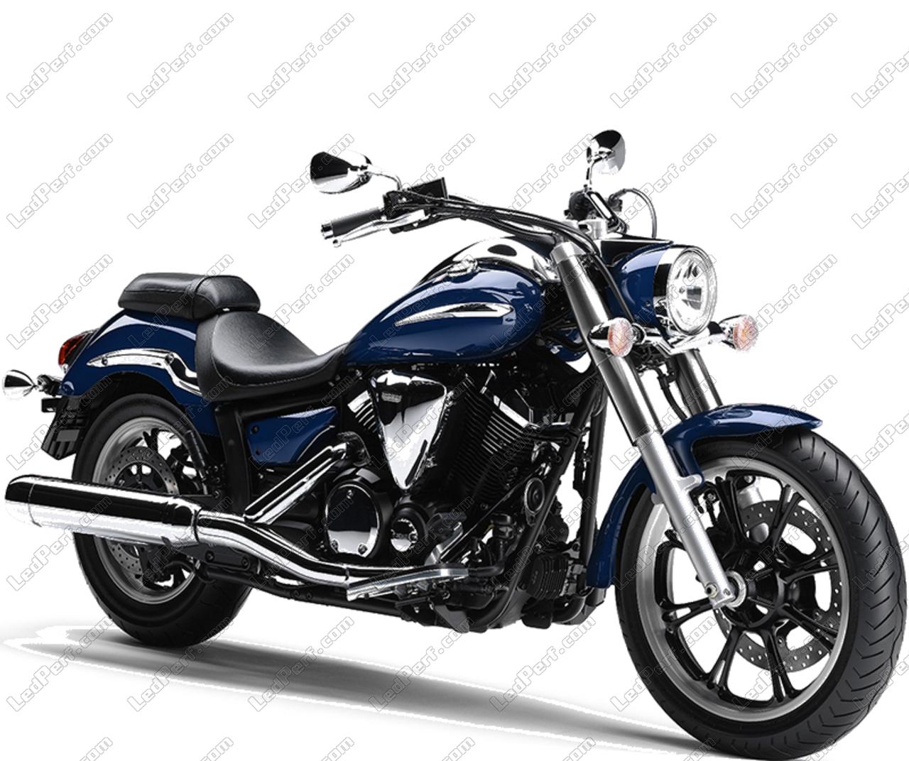 phares additionnels led pour moto yamaha xvs 950 midnight star. Black Bedroom Furniture Sets. Home Design Ideas