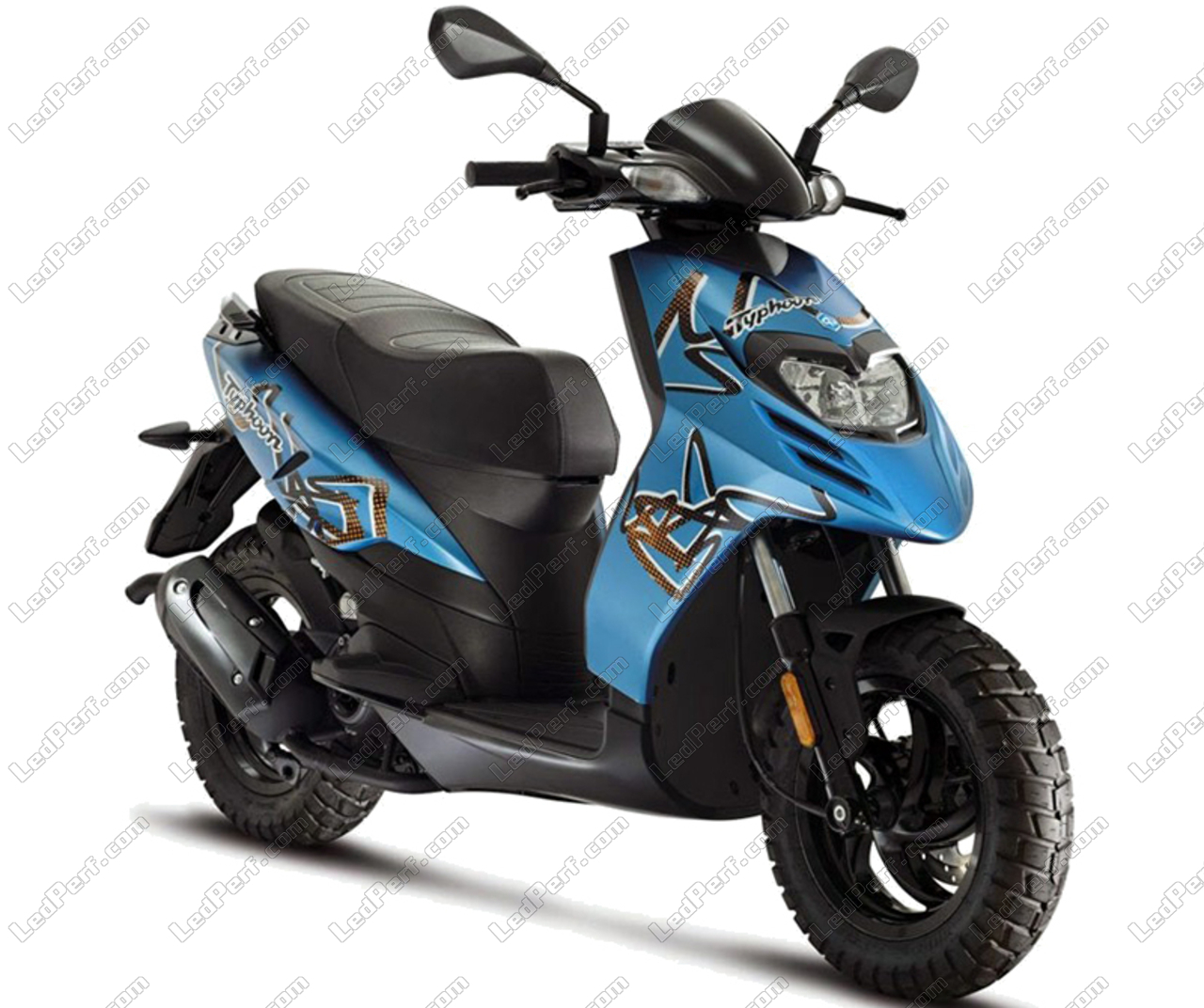 phares additionnels led pour scooter piaggio typhoon 50 2011 2018. Black Bedroom Furniture Sets. Home Design Ideas