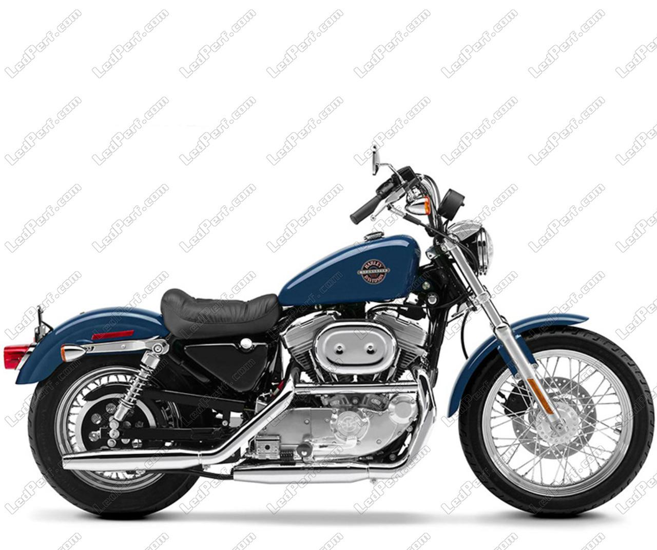 phares additionnels led pour moto harley davidson hugger 883. Black Bedroom Furniture Sets. Home Design Ideas