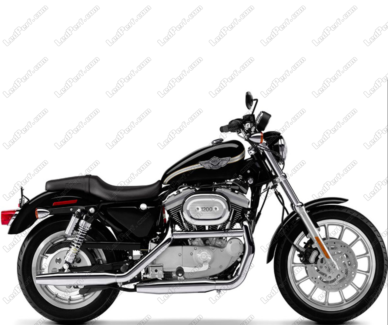 phare led rond pour harley davidson sport 1200 s garantie 5 ans. Black Bedroom Furniture Sets. Home Design Ideas