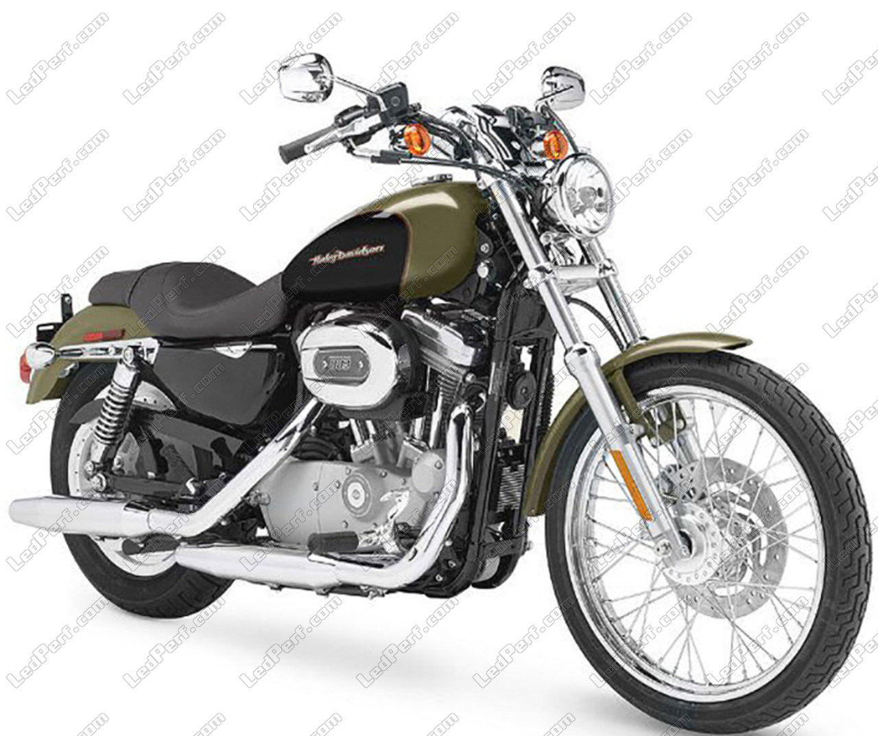 phare led rond pour harley davidson custom 883 garantie 5 ans. Black Bedroom Furniture Sets. Home Design Ideas