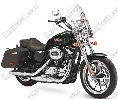 phares additionnels led pour moto harley davidson superlow 1200. Black Bedroom Furniture Sets. Home Design Ideas
