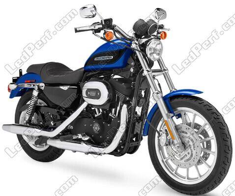 phares additionnels led pour moto harley davidson xl 1200. Black Bedroom Furniture Sets. Home Design Ideas