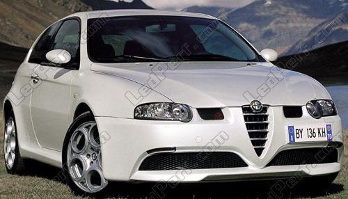 Alfa Romeo 147 GTA 2xH7 Super Blanc DEL Cree SMD Ampoules 30 W Lumière 501