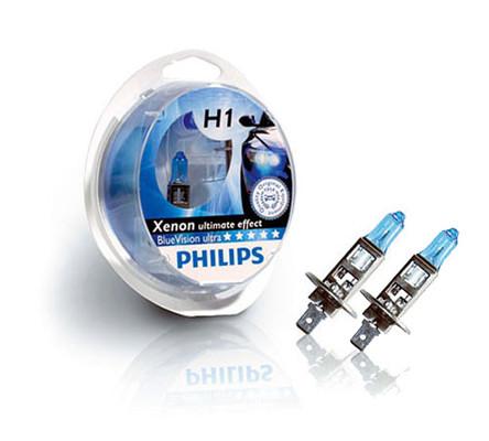 pack de 2 ampoules h1 philips bluevision ultra. Black Bedroom Furniture Sets. Home Design Ideas