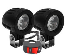 Phares additionnels LED pour moto Buell XB 12 STT Lightning Super TT - Longue portée