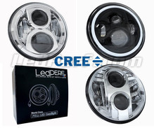 Phare à LED pour Harley-Davidson Road King Custom 1584 - Optique moto rond homologué