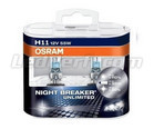 Pack de 2 Ampoules H11 Osram Night Breaker Unlimited