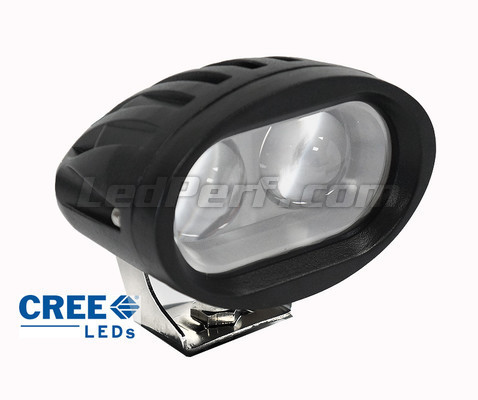 phare additionnel led cree ovale 20w pour moto scooter quad. Black Bedroom Furniture Sets. Home Design Ideas