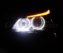 Pack angel eyes Leds BMW Serie 6 E63 E64 Ph 2 (LCI) - Avec xenon d'origine - MTEC V2.0