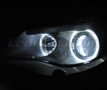Pack angel eyes à leds pour BMW Serie 6 (E63 E64) Phase 1 - Avec Xenon d'origine -MTEC V3