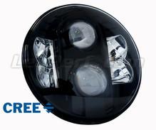 optique moto full led noir pour phare rond pouces type 1. Black Bedroom Furniture Sets. Home Design Ideas