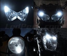 Pack veilleuses à led (blanc xenon) pour Yamaha Majesty YP 125 (1998 - 2007)