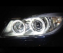 Pack angel eyes à leds pour BMW Serie 3 (E90 - E91) Phase 1 - Avec xenon d'origine - Standard